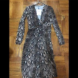 Zara snake print dress!! NEW!!
